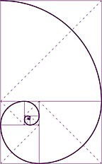 Golden Mean spiral diagram