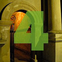 the number 4 superimposed over picture of archway leading to main courtyard of College of Charleston in Charleston, South Carolina