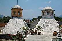 pair of lanterns on Antigua Guatemala rooftop garden