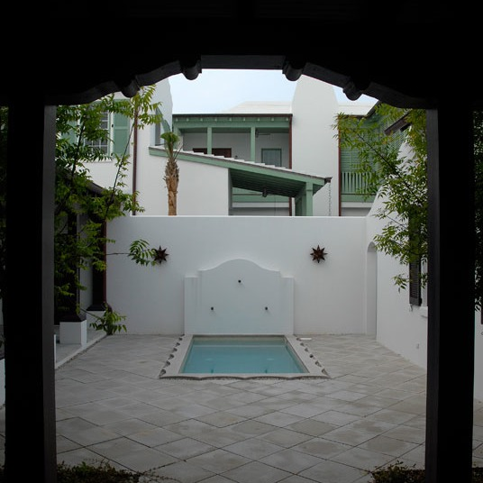 another view of the courtyard of our Alys Beach design