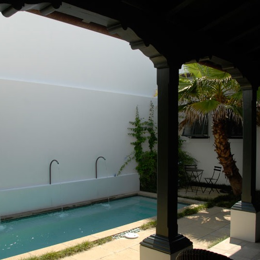 Alys Beach courtyards are patterned after those of Antigua Guatemala
