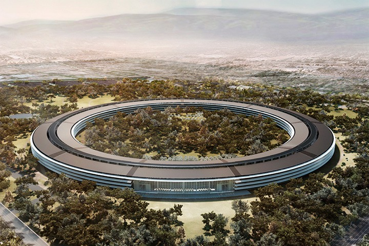 architect's rendering of Apple's new headquarters (not my image; harvested from Google Images)