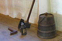 keg, axe, lantern, and hammer at George Washington's Mount Vernon plantation