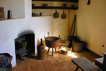 hearth corner at Mount Vernon, home of George Washington