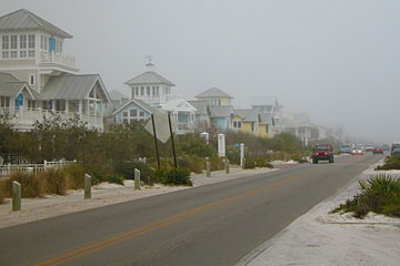 Highway 30-A running through Seaside, Florida