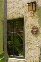 historic marker on the Chael-Dover Cottage in Miami, Florida - the original building was reused, not demolished