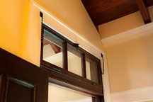 ventilating transom in the Chael-Dover Cottage in Miami, Florida