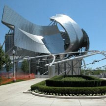 Frank Gehry amphitheatre at Millennium Park in Chicago