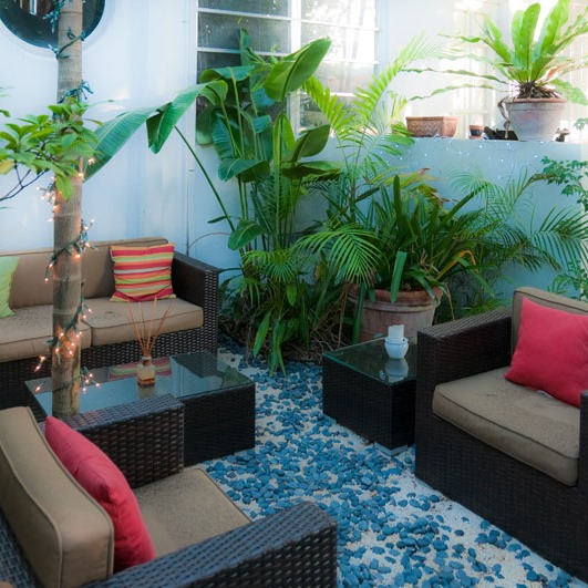 South Beach garden room is an outdoor living room