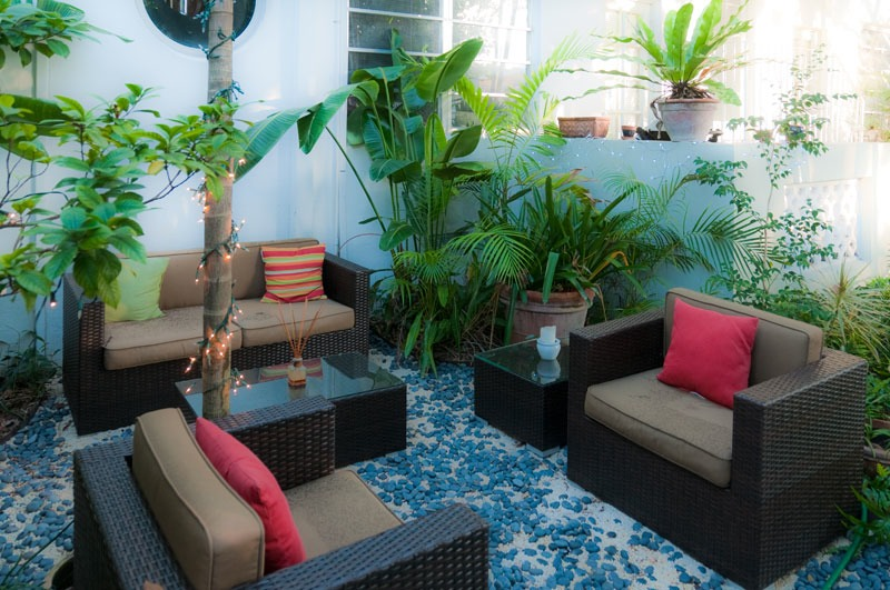 South beach garden room is an outdoor living room the for Best garden rooms