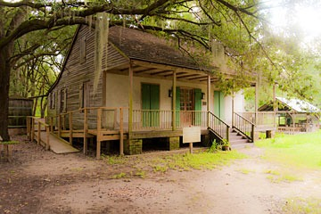 cottage on the grounds of Destrehan Plantation in Louisiana