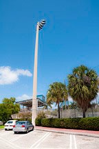 light pylon for baseball field at Flaming Park in South Beach