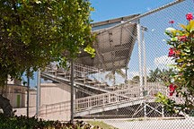 baseball grandstand in Flamingo Park on South Beach