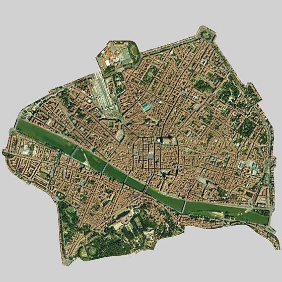 Florence, Italy satellite image