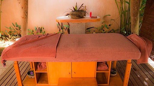 massage table at Hotel Shandrani in Mauritius