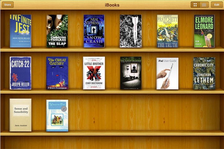 iBooks screen shot