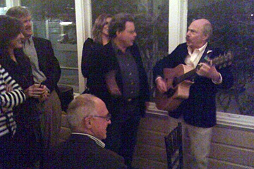 Jim Kunstler and Walter Chatham entertaining colleagues at Seaside