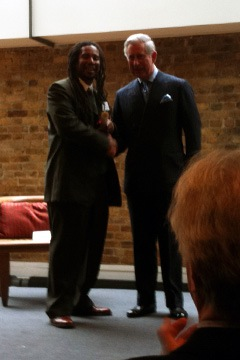 Prince Charles and New Orleans craft apprentice at graduation in London