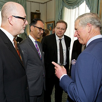 Steve Mouzon visiting with Prince Charles