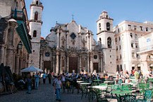Plaza de la Catedral in old Havana, Cuba