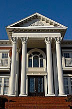 poorly-designed classical portico at the Ledges of Huntsville Mountain in Huntsville, Alabama