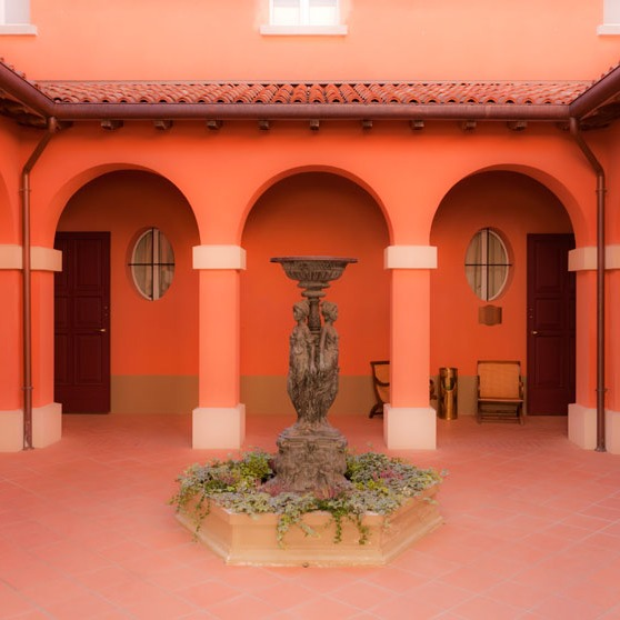 Matilde di Canossa courtyard built in recent years