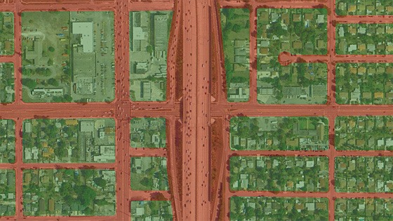 Miami plan showing areas of real estate value and thoroughfares