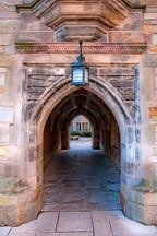 archways framing passage through building at Yale University