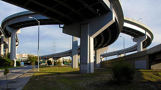 underside of a New Orleans urban expressway