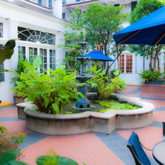 French Quarter hotel courtyard is a classic