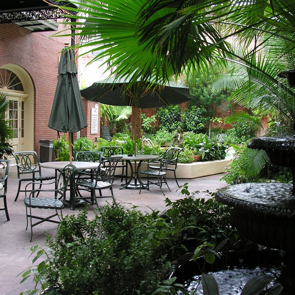classic courtyard in the French Quarter
