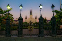 Jackson Square in French Quarter at dawn