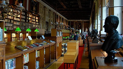 library at the Ecole des Beaux-Arts in Paris