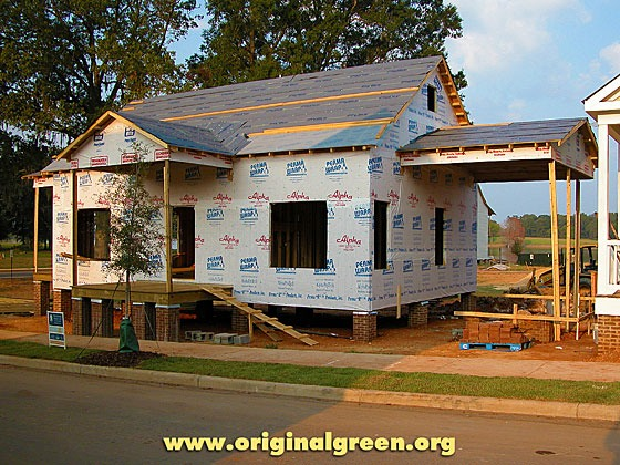 cottage under construction at the Waters, Pike Road, Alabama