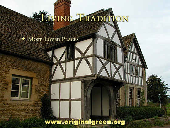 historic Tudor house on the outskirts of Lacock, England