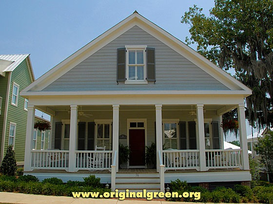 5-bay gable-front house at the Waters, Pike Road, Alabama