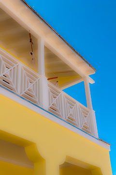 upper porch detail shot at Schooner Bay, Bahamas