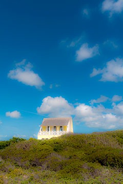 house overlooking vegetated dunes at Schooner Bay in the Bahamas