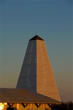 obelisk at Seaside, Florida, shot at sunset