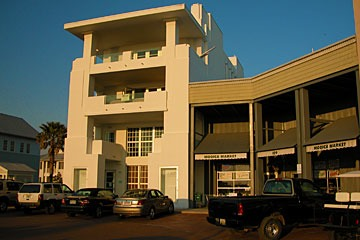 retail buildings on Seaside, Florida's Central Square includes Modica Market