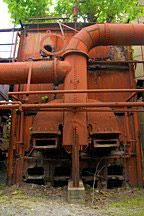 equipment at Sloss Furnace in Birmingham, Alabama