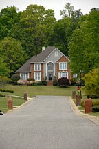 McMansion in subdivision near Birmingham, Alabama