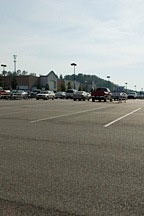 WalMart parking lot in Hoover, Alabama