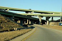 interchange between I-65 and I-459 in Hoover, near Birmingham, Alabama