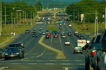 University Drive arterial thoroughfare in Huntsville, Alabama