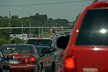 Huntsville, Alabama traffic jam