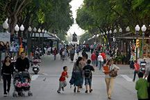 excellent rambla filled with people in Tarragona, Spain