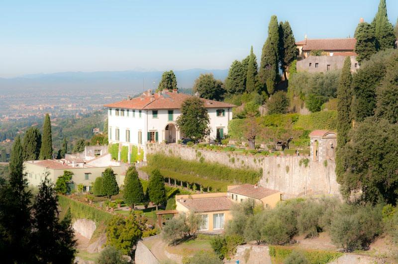 Villa Medici florence s villa medici at a distance showing terraced garden rooms