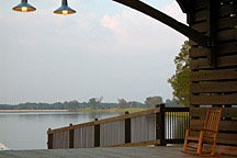 looking out across the lake from the Waters Yacht Club near Montgomery, Alabama