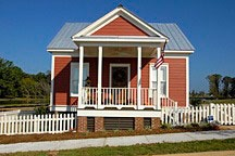one-bedroom cottage in Lucas Point of the Waters near Montgomery, Alabama